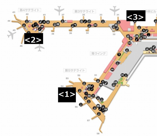 成田ラウンジ地図