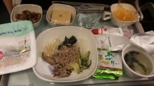 【THB】大韓航空エコノミーでホノルル搭乗記と機内食2